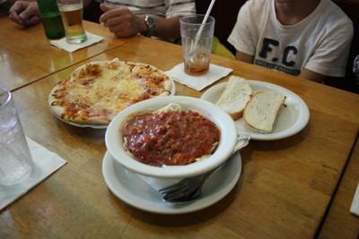 カプリチョーザのピザとスパ