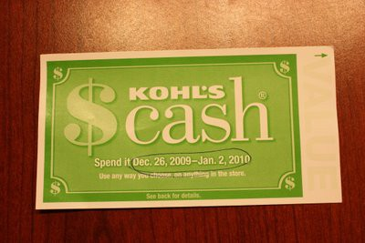 KOHL'S CASH ACTIVATED